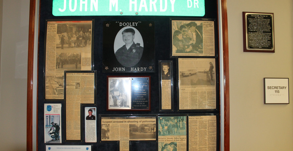 Memorial collage in the police department