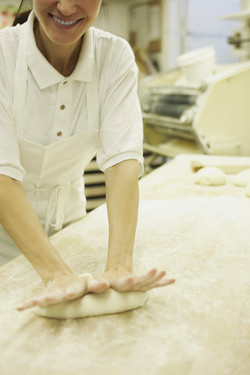 Kneading Dough at Baker's Art