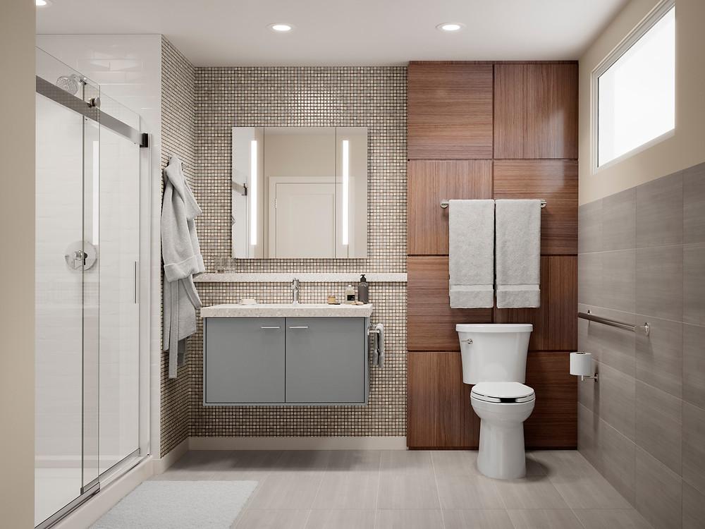 Hunter & Spark Modern 3D ArchViz Bathroom Render