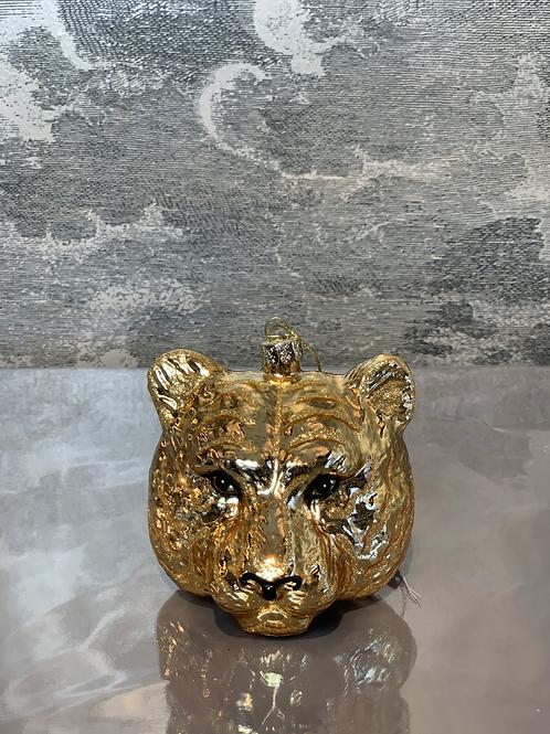 Tiger – Weihnachtsanhänger – Gold