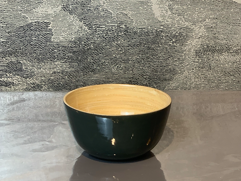 Bambus Schale D15 H10 – Dunkelgrün