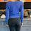 Thumbnail: Cashmere Pullover - Blau - Wickeloptik