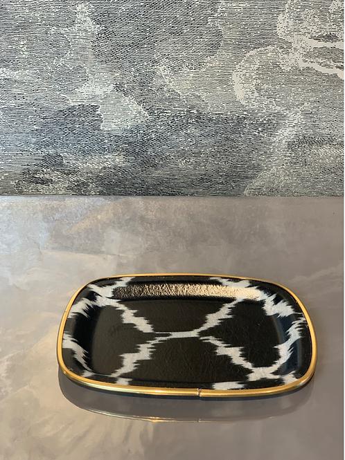 Glasfaser-Tablett - Klein -Raute Schwarz