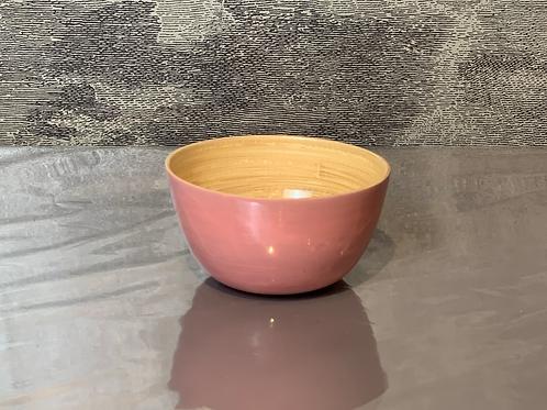 Bambus Schale D15 H10 – Rosa