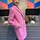 Thumbnail: Mantel - Wolle - Pink, Italienische Größe!