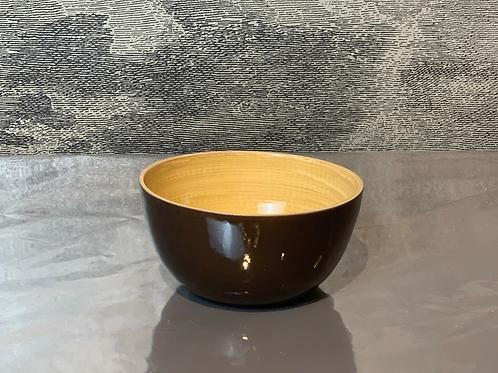 Bambus Schale D15 H10 – Braun