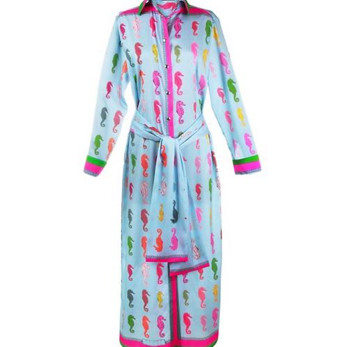 Mucho Gusto St. Lucia - Langes Kleid - mit Seepferdchen