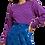 Thumbnail: Fabienne Chapot Pullover - Streifen- Blau mit Pink
