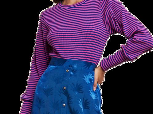 Fabienne Chapot Pullover - Streifen- Blau mit Pink