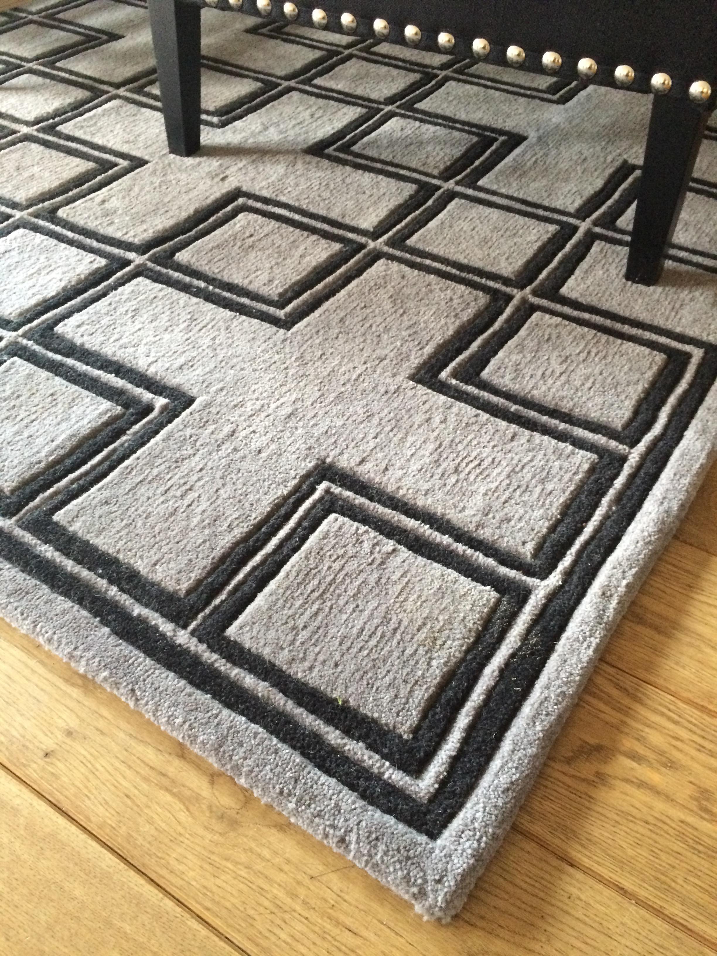 Designer-Teppich aus Wolle