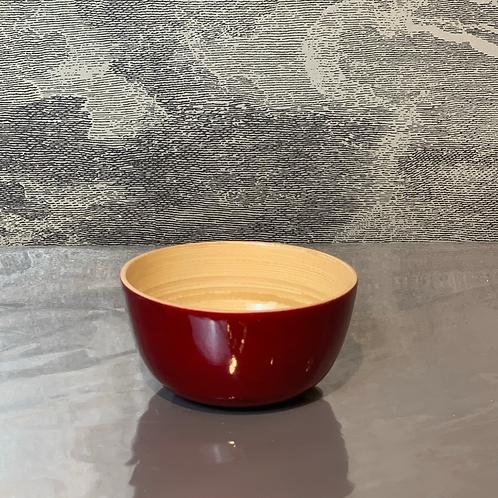 Bambus Schale D15 H10 – Rot