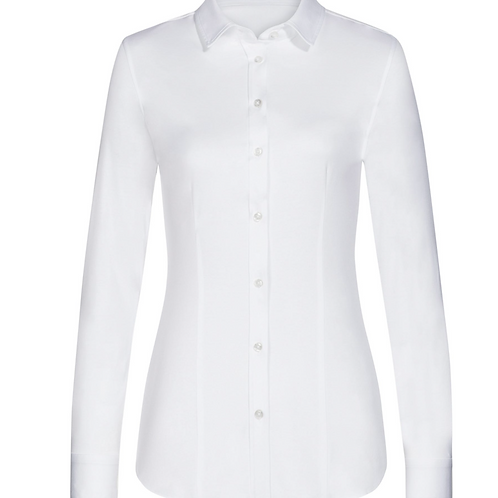 Soluzione Jersey Bluse Weiß