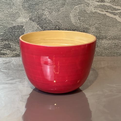Bambus Schale D22 H14 – Rot