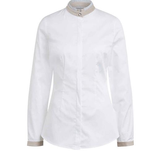 Soluzione Bluse - Baumwolle - Weiß