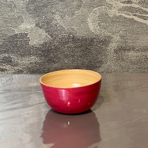 Bambus Schale D15 H 10 – Pink