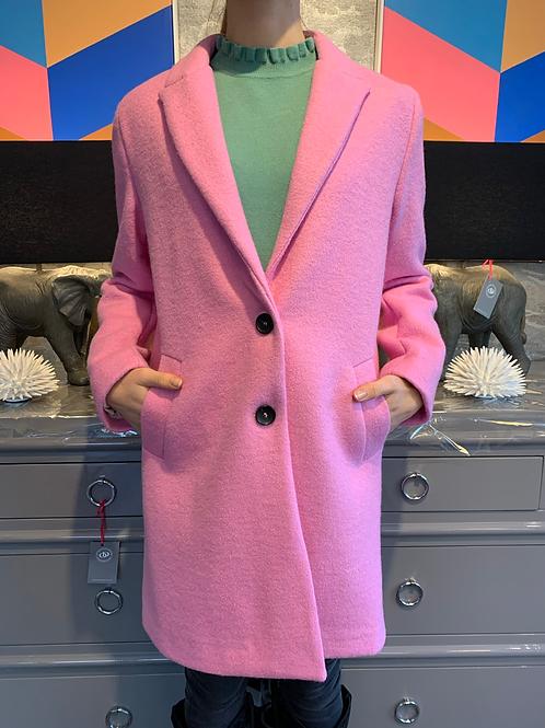 Mantel - Wolle - Pink, Italienische Größe!