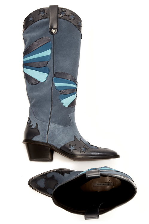 Cowboy Stiefel Gr. 39 -  Holly Knee High Butterfly Boot
