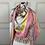 Thumbnail: Luxus - Mucho Gusto Seiden-Tuch - Dreieckstuch mit Lederfransen