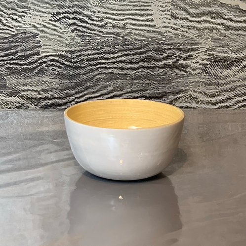 Bambus Schale D15 H10 – Weiß