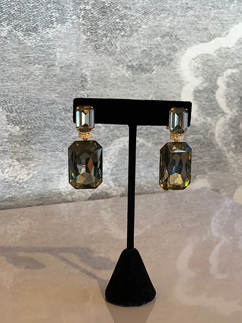 Ohrring Paar - Stein Grau - Edler Schliff mit Details