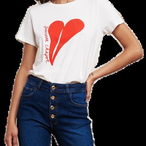 Fabienne Chapot - T-Shirt - Herz Rotorange