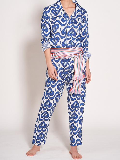 Nimo - Jumpsuit - Ikat Blue - Print
