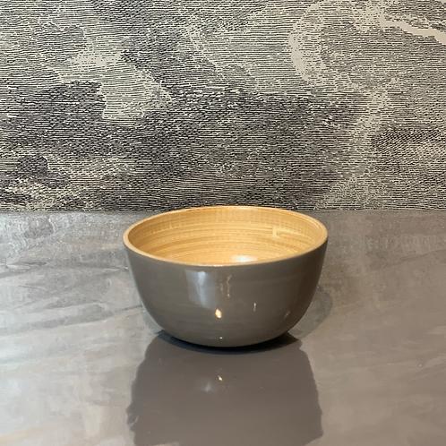 Bambus Schale D15 H10 – Grau