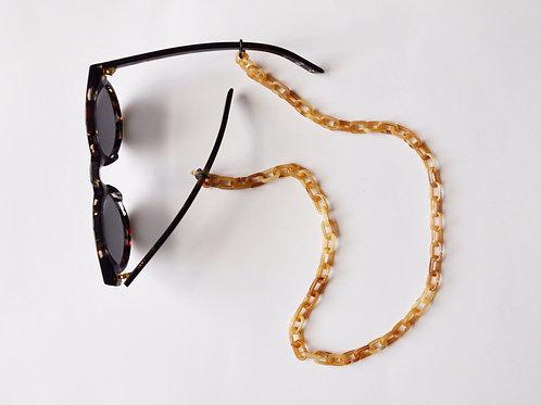 Brillenkette – Tiefenbacher Lehmann –  beige turtle