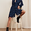 Thumbnail: Fabienne Chapot - Kleid FRIEDA Knielang - Leo Schwarz mit Blau