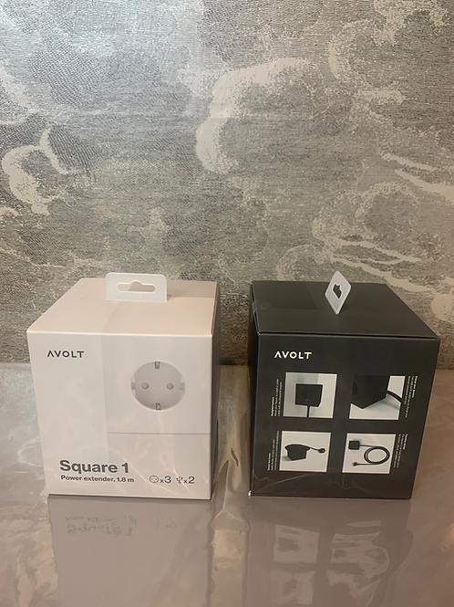 AVOLT - Mehrfach-Steckdose mit USB – Schwarz