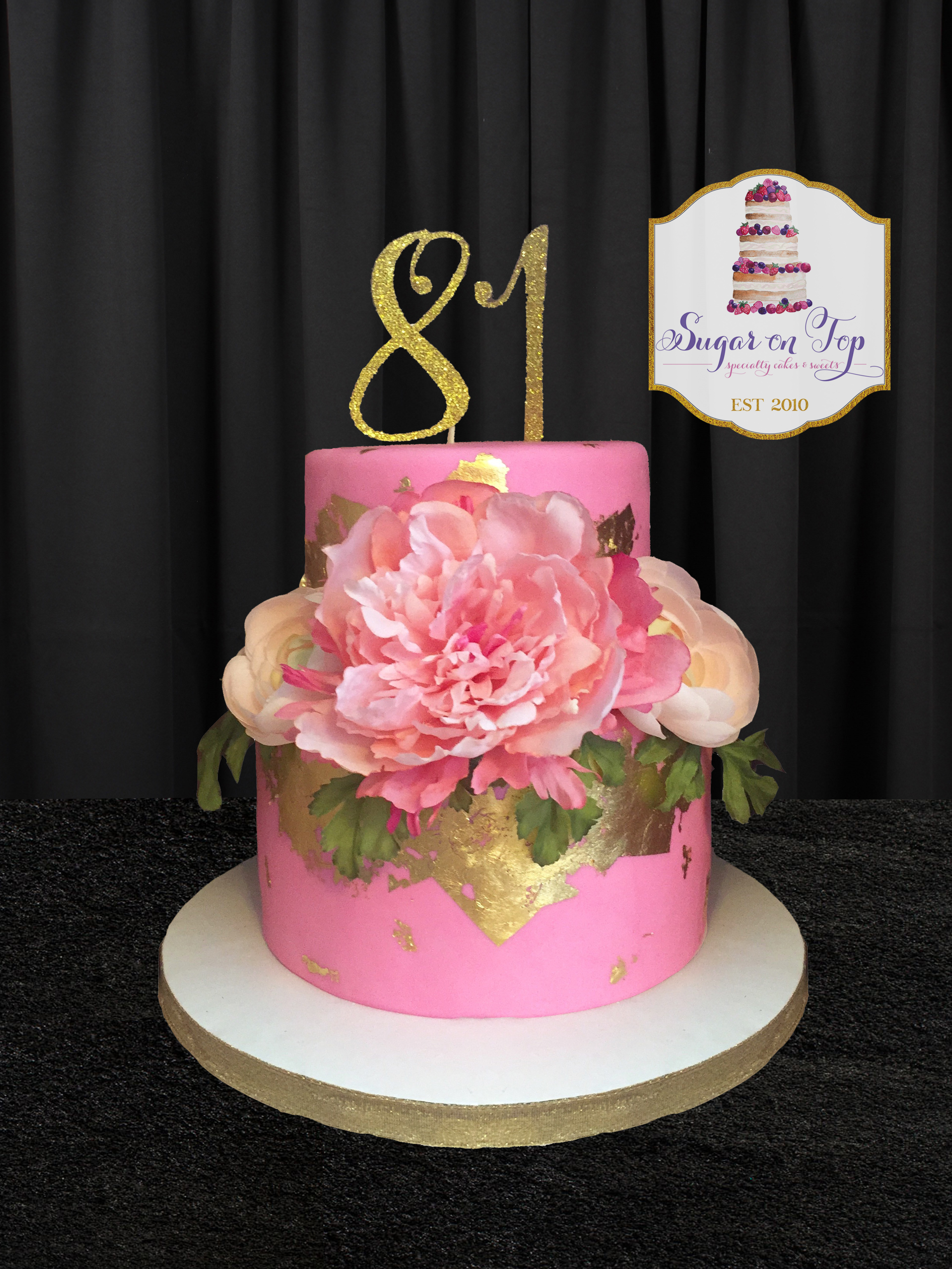 pink and gold cake 81