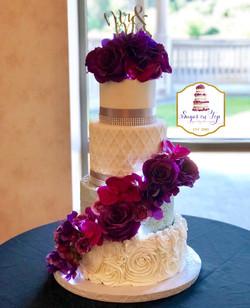 botanical wedding cake
