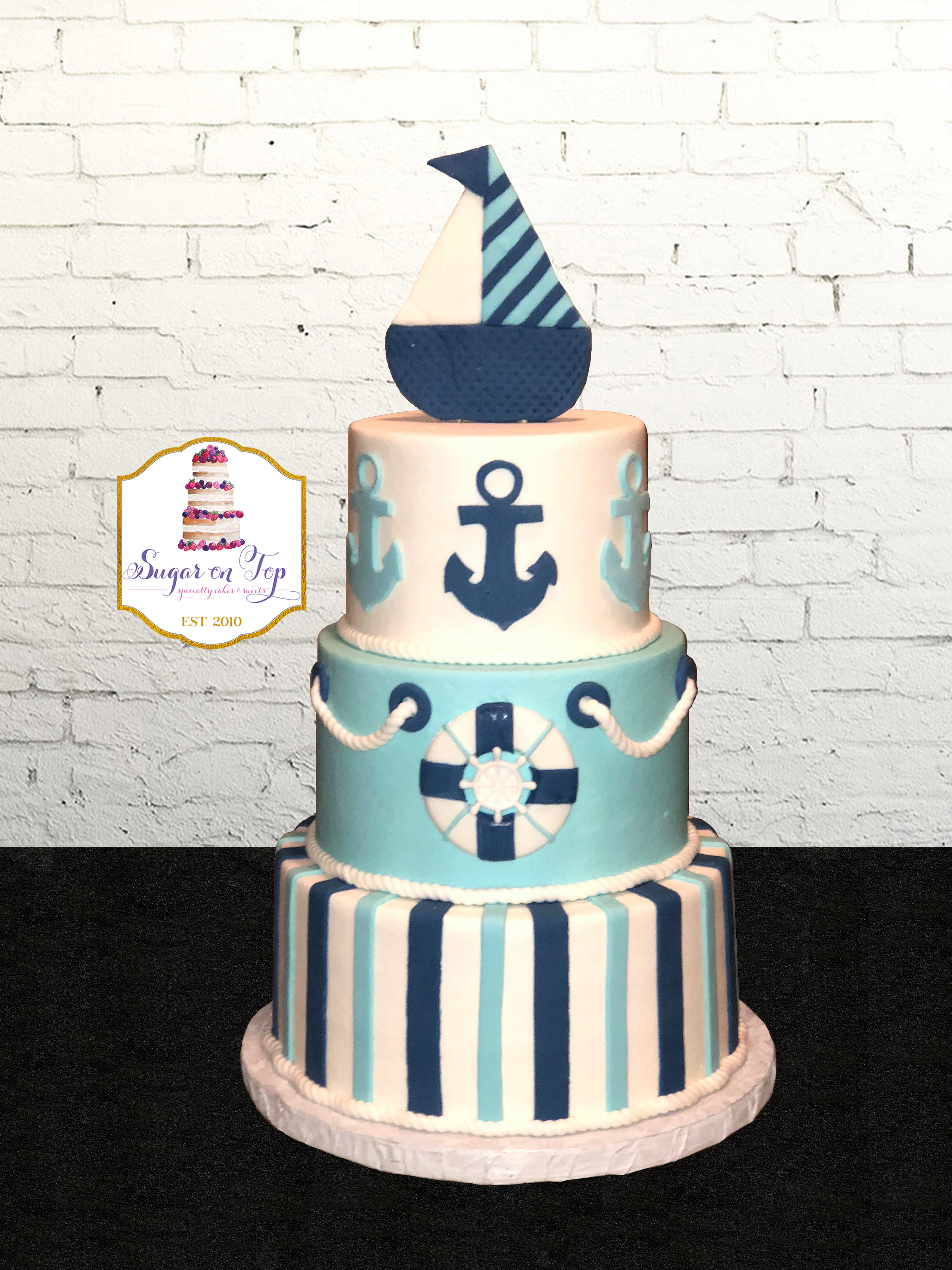 anchor babyshower cake