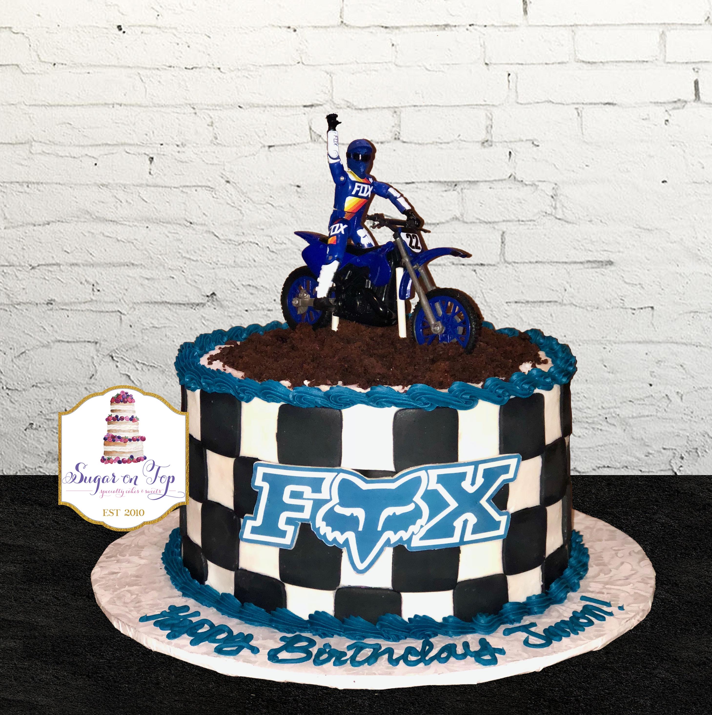 FOX racing cake