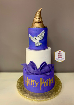 harry potter purple cake
