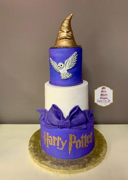 harry potter purple cake