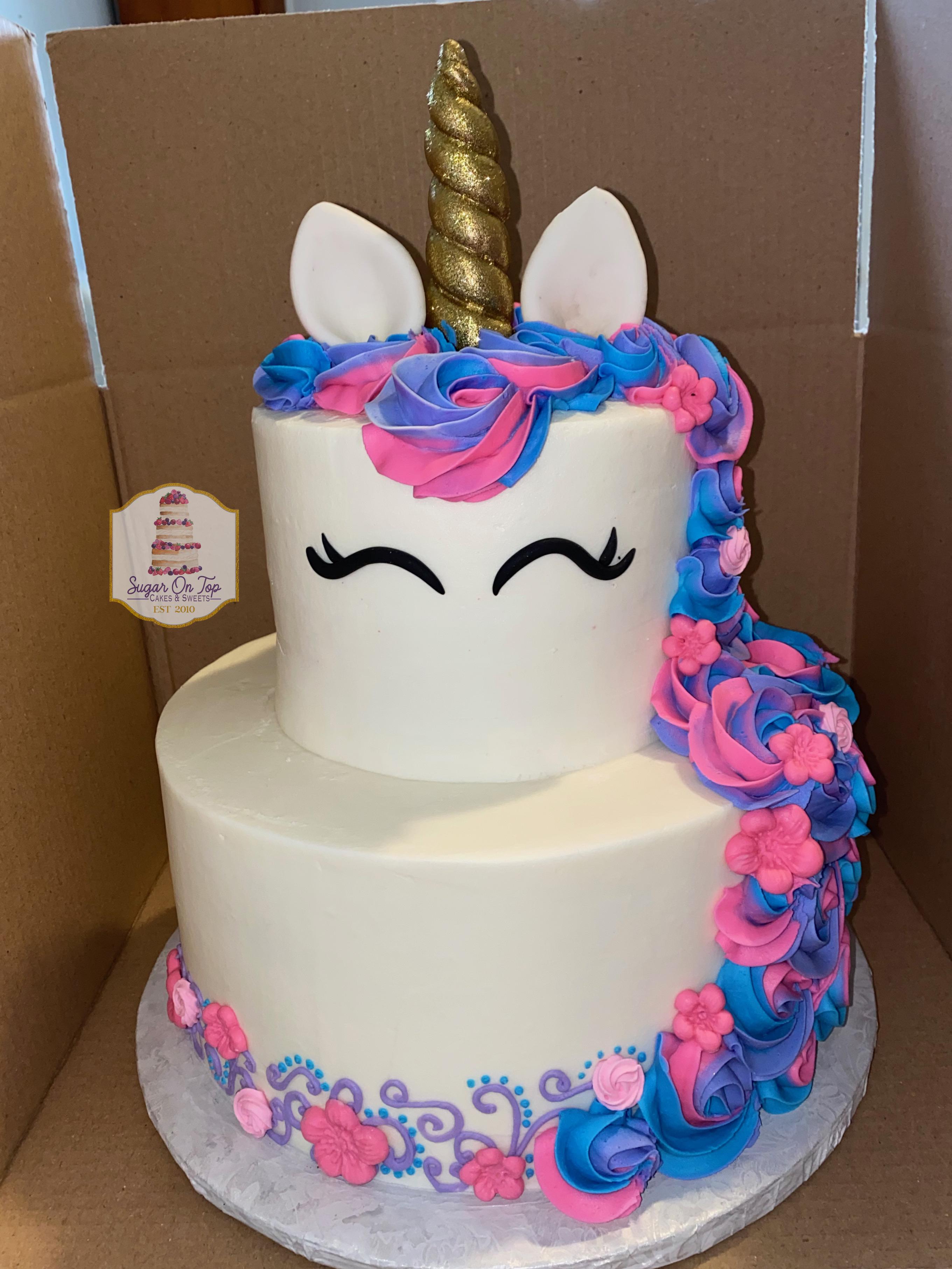 2 tier unicorn cake BEELER