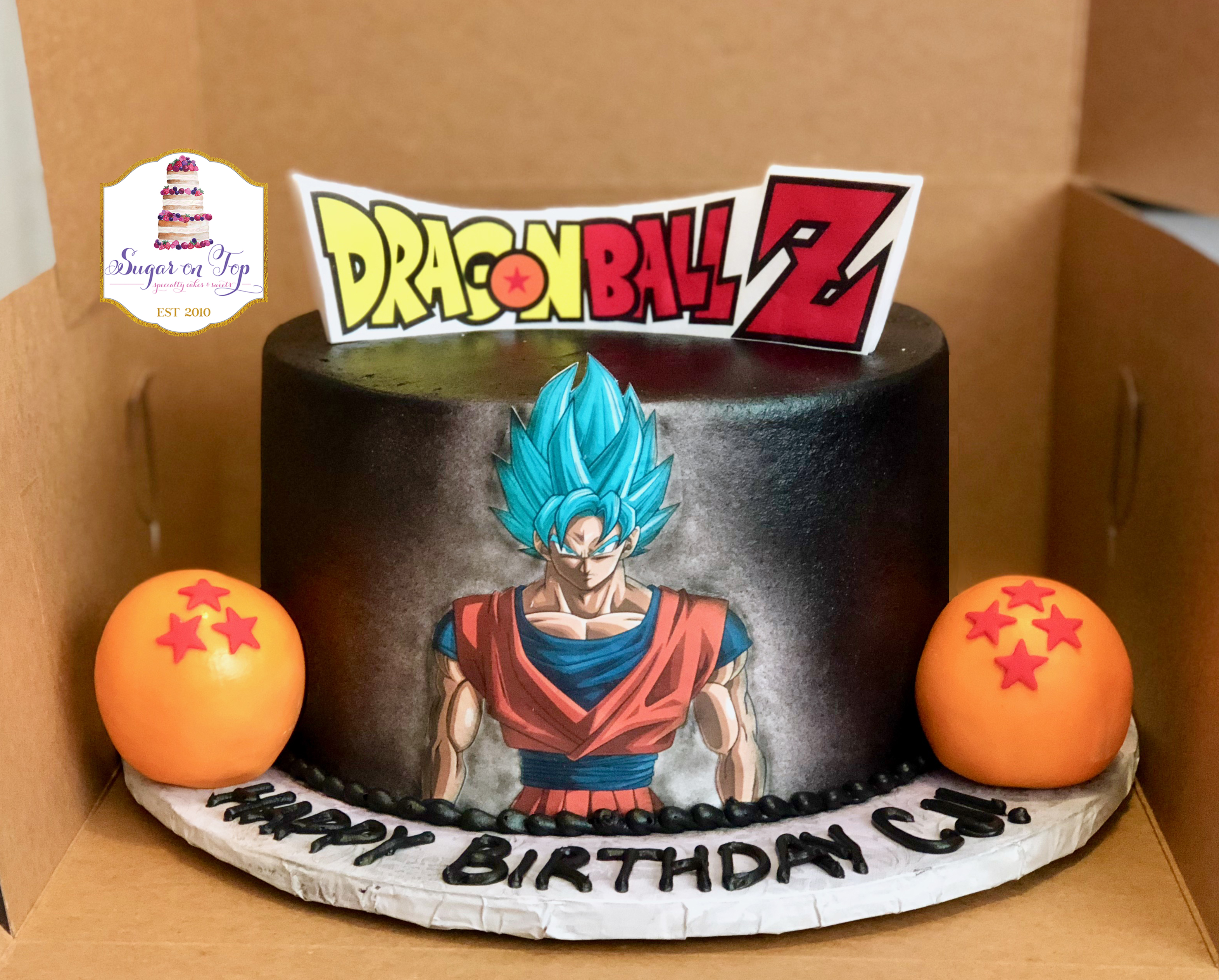 cj dragonballz cake