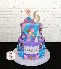 courtney mermaid cake