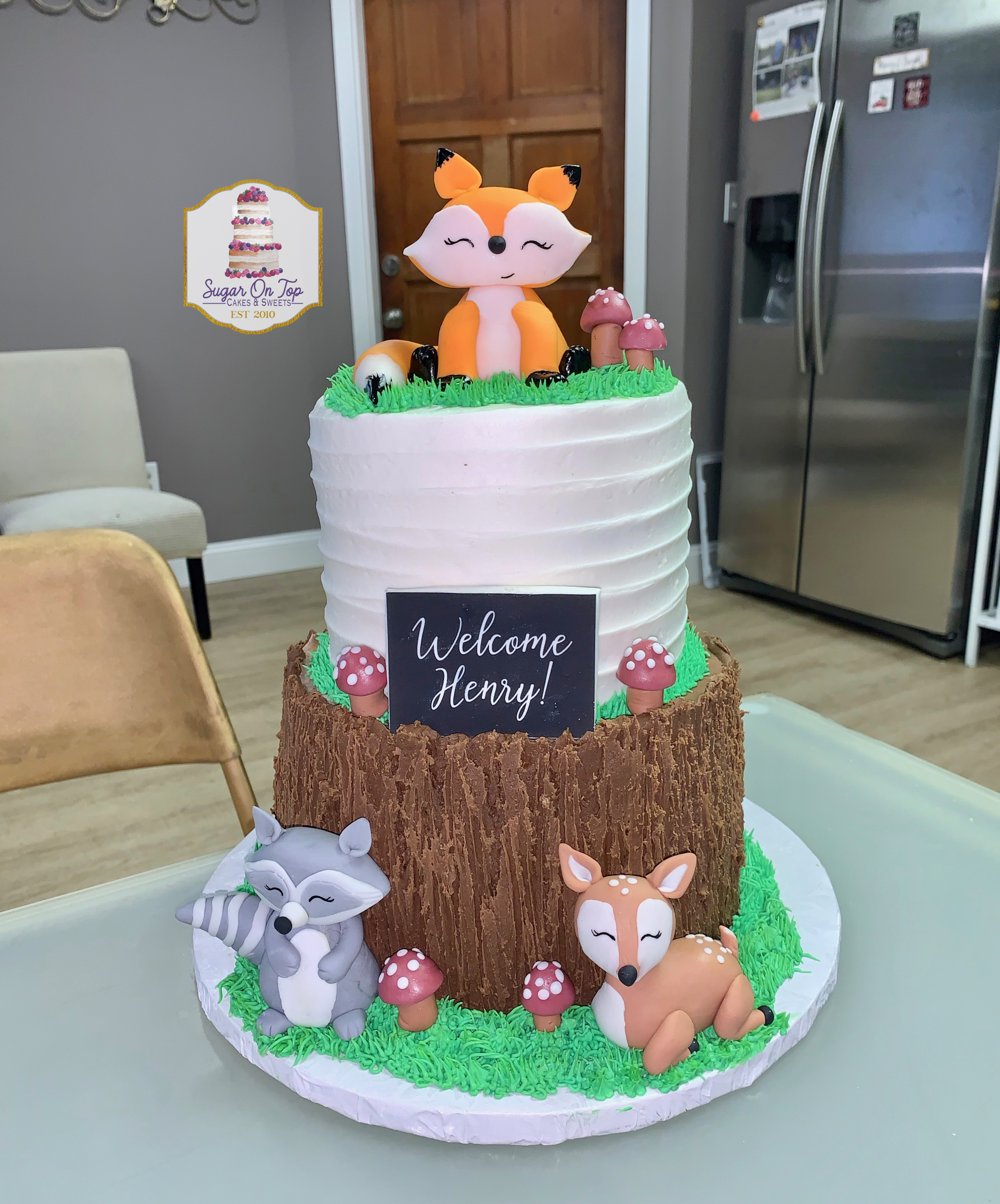 woodland baby shower cake-brenda berry