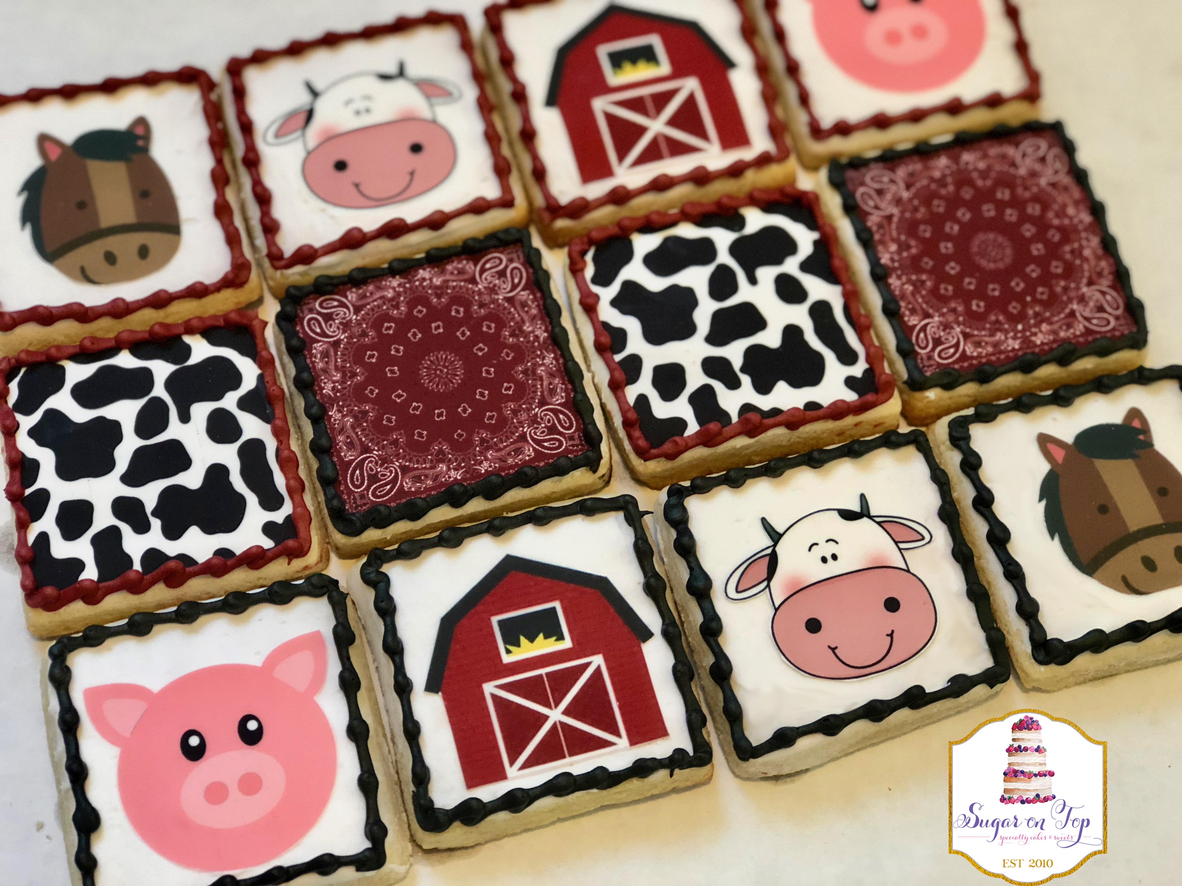 farm theme cookies