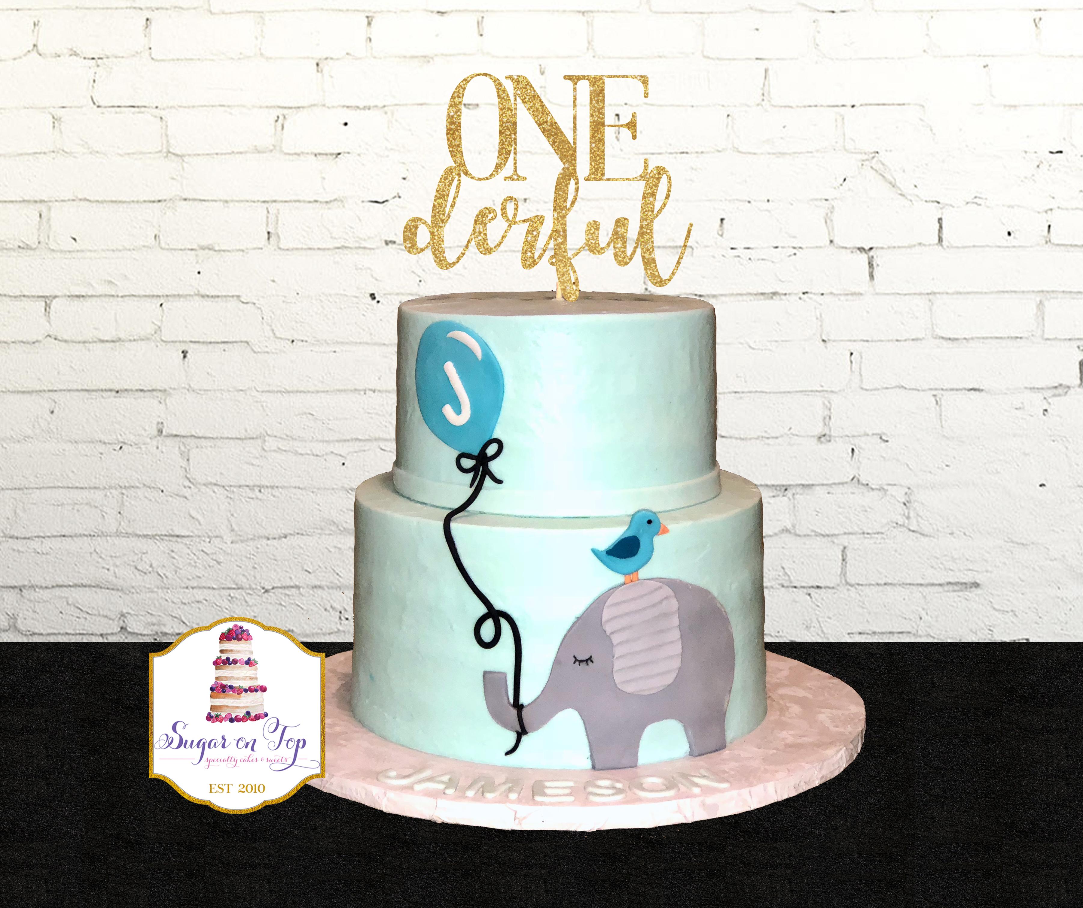 ONEderful elephant cake