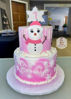 winter one derland cake