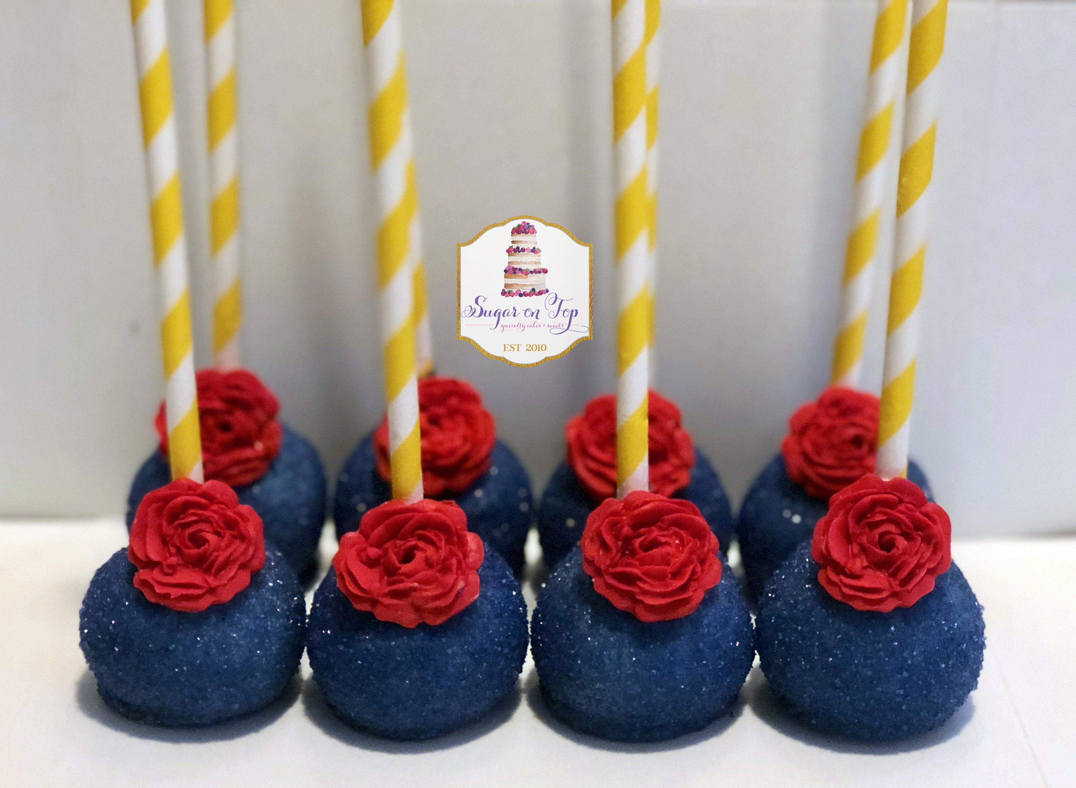 beauty beast cake pops