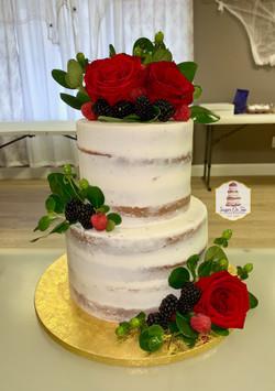 demetry naked wedding cake
