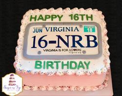 NRB license plate cake