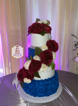 adrienne hill wedding cake