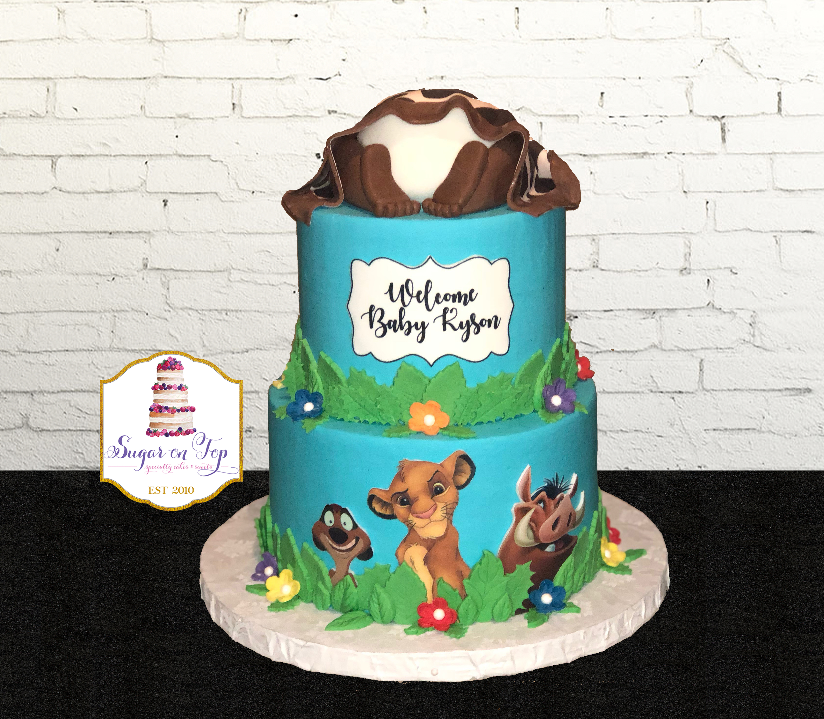 lion king babyshower cake