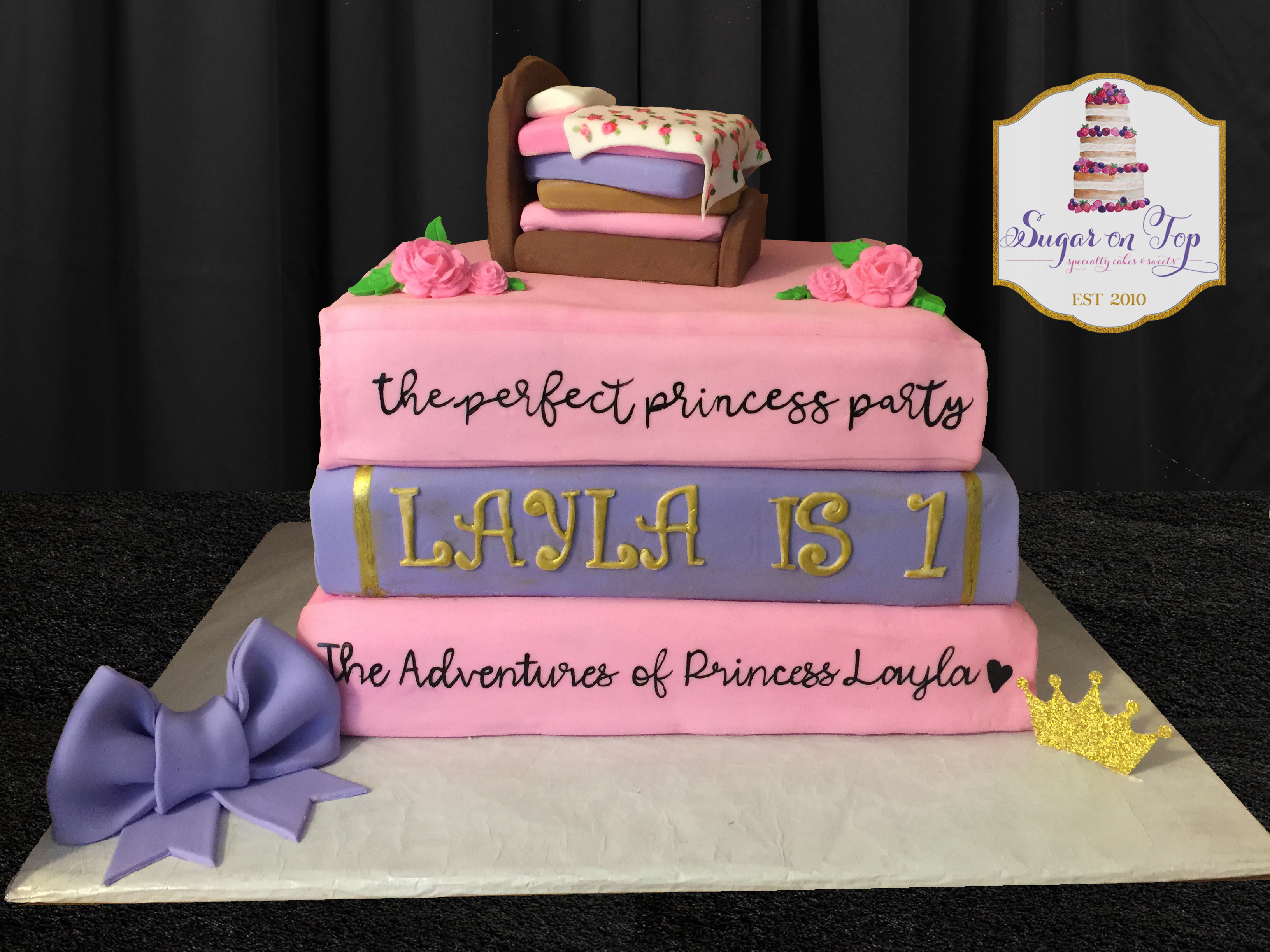 princess book cake