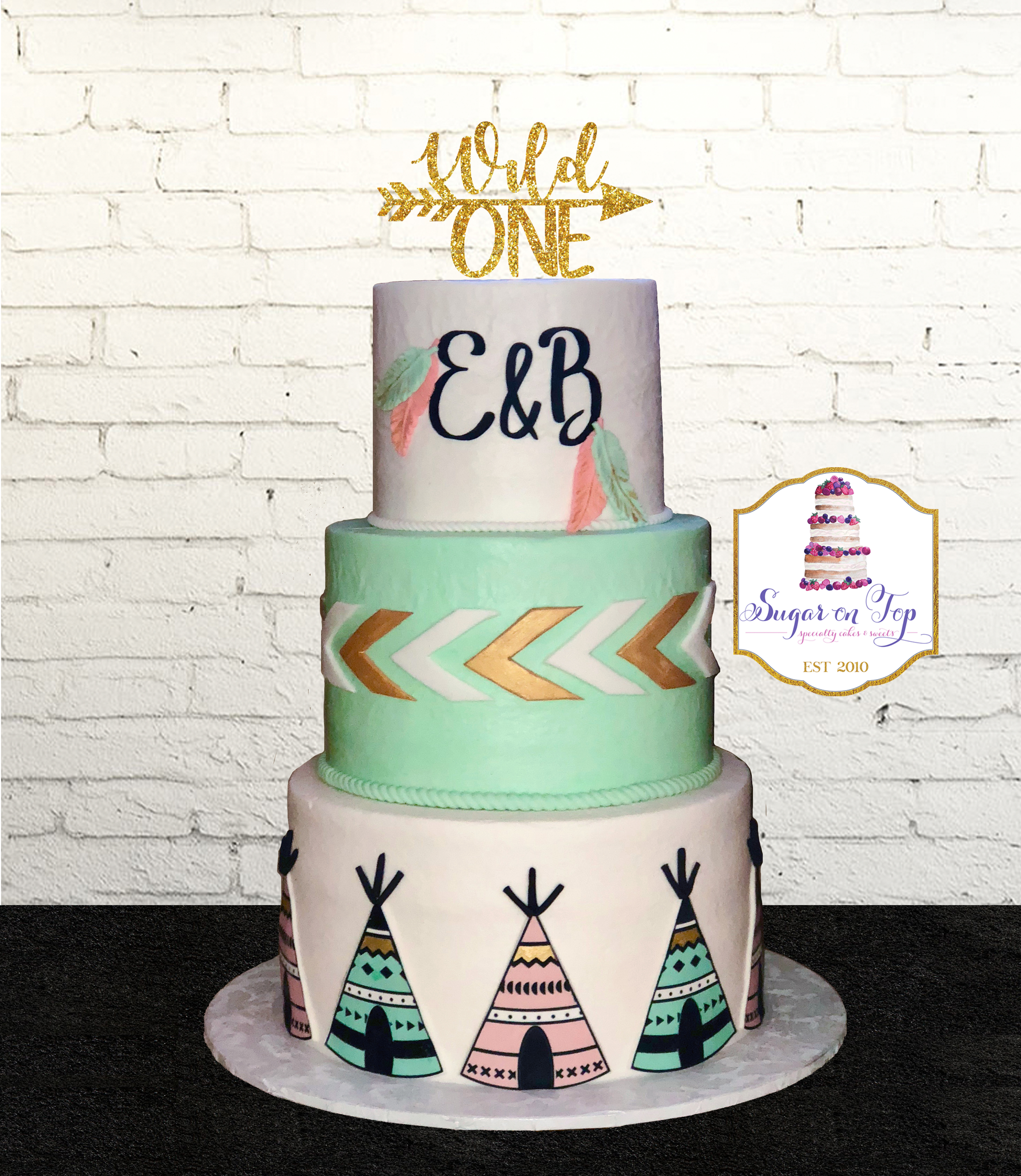 boho wild one cake
